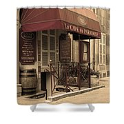 Cave Du Paradoxe Wine Shop In Beaune France Shower Curtain