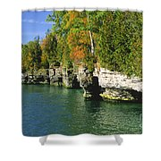 Cave Point Cove Shower Curtain