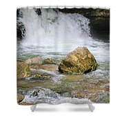 Cave Water Fall Shower Curtain