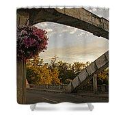 Caveman Bridge Arch And Flowers Shower Curtain