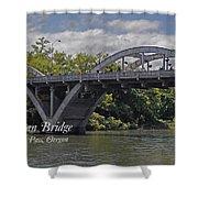 Caveman Bridge With Text Shower Curtain