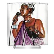 Cecile Kayirebwa Shower Curtain