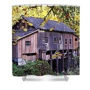 Cedar Creek Grist Mill In Autumn Shower Curtain