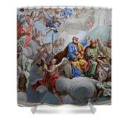 Ceiling Fresco - Karls Church Shower Curtain
