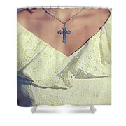 Celctic Cross Shower Curtain by Joana Kruse