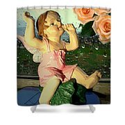 Celebrate The Rain With Roses 2 Shower Curtain