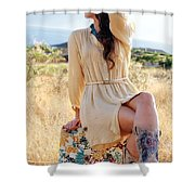 Celeste 12 Shower Curtain