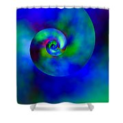Celestial Nautilus Shower Curtain