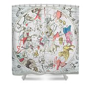 Celestial Planisphere Showing The Signs Of The Zodiac Shower Curtain by Andreas Cellarius