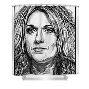 Celine Dion In 2008 Shower Curtain