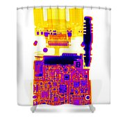 Cell Phone Shower Curtain