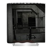 Cement Deco Shower Curtain