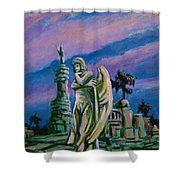 Cemetary Guardian Shower Curtain