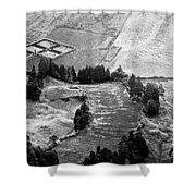 Cemetery And Pastures Shower Curtain