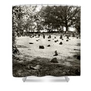 Cemetery At Mud Meeting House Shower Curtain by Mark Jordan