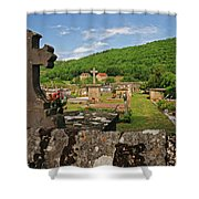 Cemetery In France Shower Curtain