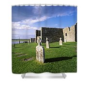 Cemetery In Front Of A Monastery Shower Curtain