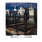 Cemetery Landscape Shower Curtain