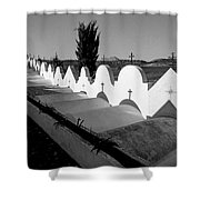 Cemetery Spain Three Shower Curtain