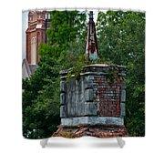 Cemetery Spires Shower Curtain