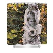 Cemetery Statue 1 Shower Curtain