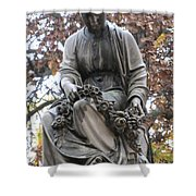 Cemetery Statue 4 Shower Curtain