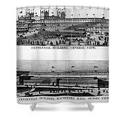 Centennial Expo, 1876 Shower Curtain by Granger