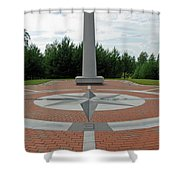 Center Of Europe. Lithuania Shower Curtain