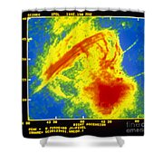 Center Of The Galaxy Radio Image Shower Curtain