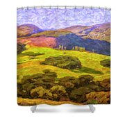 Central Coast Wine Country Shower Curtain