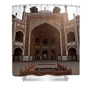 Central Cross Section Of Humayun Tomb In Delhi Shower Curtain