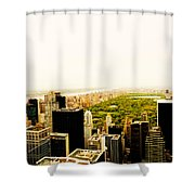 Central Park And The New York City Skyline From Above Shower Curtain