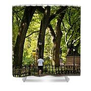 Central Park Jogging Shower Curtain