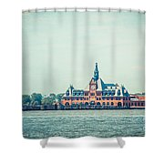 Central Railroad Terminal Of New Jersey Shower Curtain