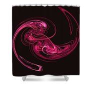 Centrifugal Strands - Abstract Art Shower Curtain