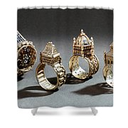 Ceremonial Marriage Rings Shower Curtain