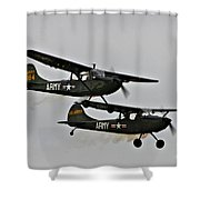 Cessna Bird Dog O-1el-19 Shower Curtain