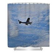 Cessna In Flight Shower Curtain