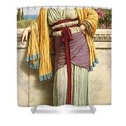 Cestilia Shower Curtain by John William Godward