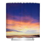cf 518 A Blue sunset Shower Curtain