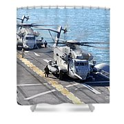 Ch-53e Super Stallion Helicopters Shower Curtain