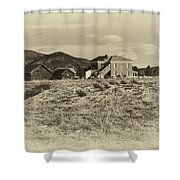 Chaffee County Poor Farm Print Shower Curtain