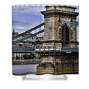 Chain Bridge  Budapest Shower Curtain