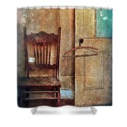 Chair By Open Door Shower Curtain