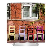 Chairs At Hamlyn Shower Curtain