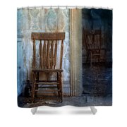 Chairs In Rundown House Shower Curtain