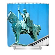 Chalemagne At Sacre Coeur Basilica Shower Curtain