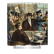 Challenging A Voter, 1872 Shower Curtain
