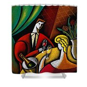 Champagne And Love Shower Curtain