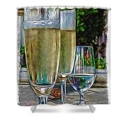 Champagne At The Beach Shower Curtain